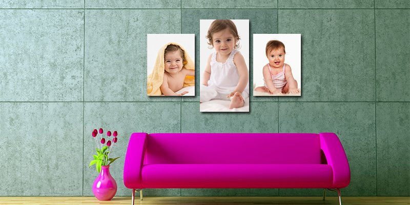 single canvas print of child in lounge