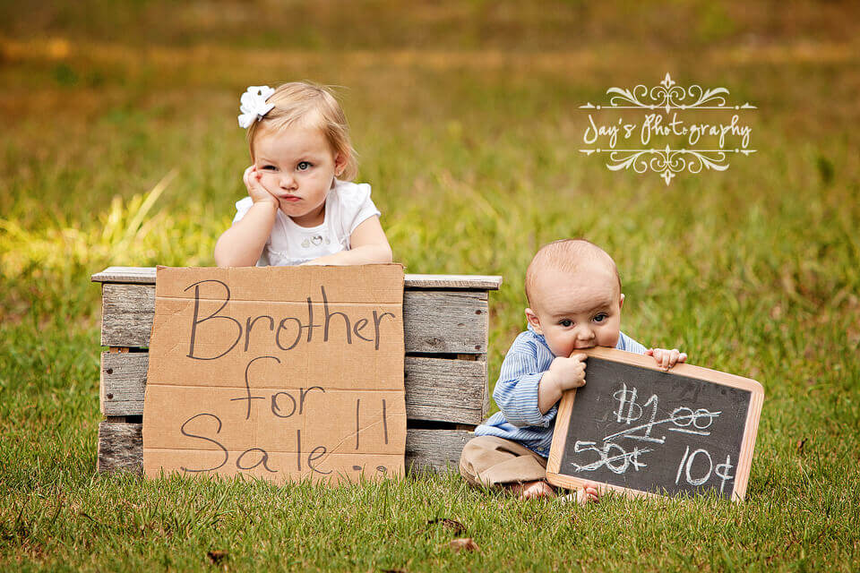 Sibling Photos with a Twist