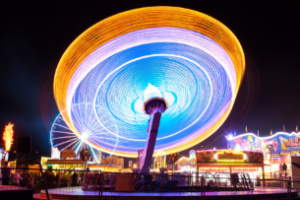 amusement park blur bright