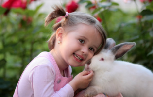 Girl with rabbit