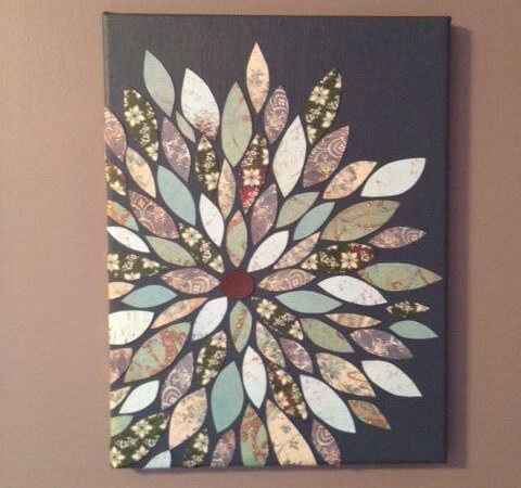 Diy flower wall art for Diy flower canvas wall art