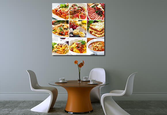 Bright Colored Fruits and Food in your Restaurant Decor