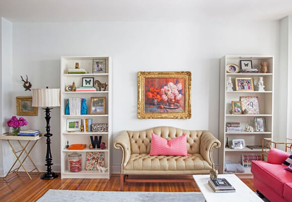 Gallery Canvas Prints in cubby shelves