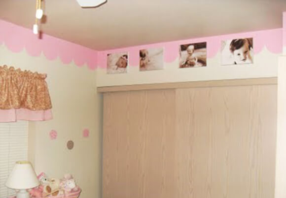 Image Border with Photographs of your One Year Old for His Nursery