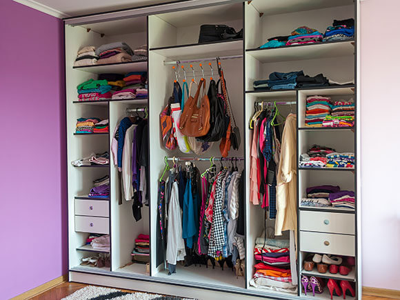 Clothes hanging area