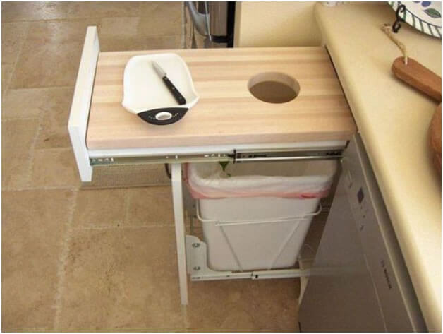 Cutting Table and Garbage Basket