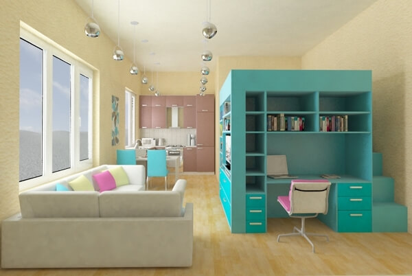 Small Area Nice Book Case Smart Apartment Part 96