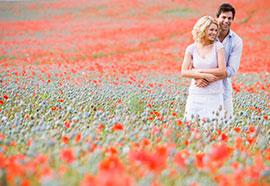 Modern fourth wedding anniversary