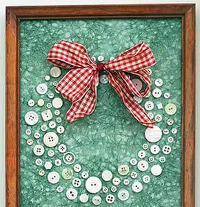 Button Framed Wreaths