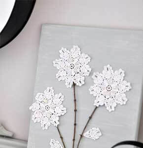Canvas Doily Wall Art