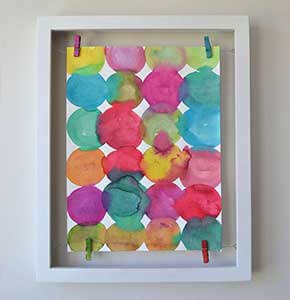 Circle Paintings Floating Frame