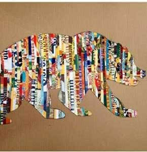 DIY Colorful Magazine Strips Art