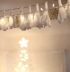 DIY Fabric Lights Garland