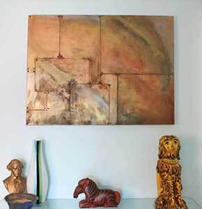 DIY Oxidized Copper Painting