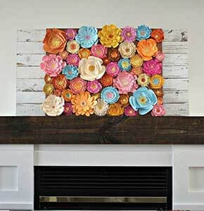 DIY Paper Flowers Art