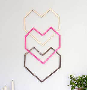 DIY Popsicle Stick Wall Decoration