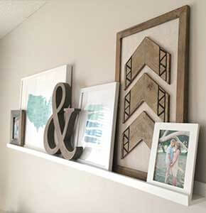 DIY Shelf Gallery