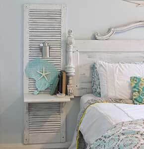 DIY Shutter Nightstand