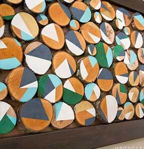 DIY Wood Slice Art