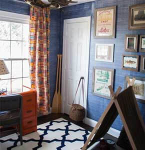 Faux Denim Wall Paint