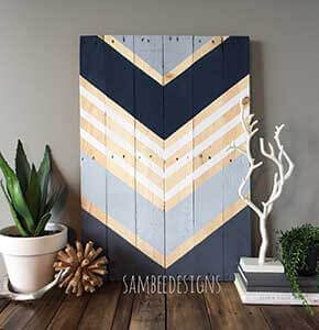 Modern Pallet wood Wall Art Design
