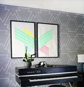 Paint Pen Geometric Wall Art